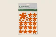Flower Reflective Decals Orange