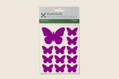 Butterfly Reflective Decals Purple