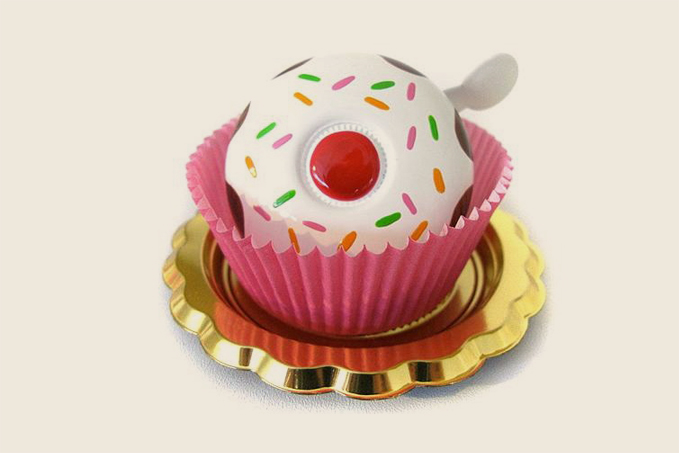 Pink cupcake bicycle bell from Adeline Adeline